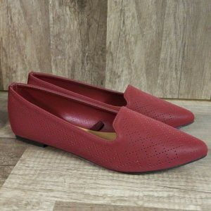 Anthropologie Seychelles Red pointy toe shoes SZ 7